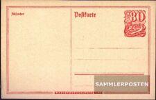 Deutsches Reich P142I Amtliche Postkarte ungebraucht 1921 Postreiter