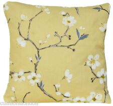 Yellow Cushion Cover Apple Blossom Pillow Case Mimosa Designers Floral Fabric