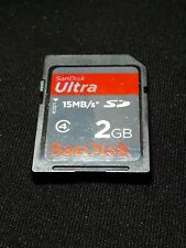 2GB SanDisk Ultra SD Memory Card - For Canon Powershot Digital Camera