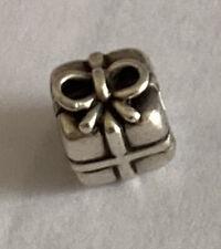 Genuine Pandora Silver Present Charm - Good Condition