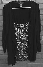 """1x Plus 50"""" Bust 31"""" Length Style and Co Shirt Top Blouse Twofer Gorgeous Twofer"""