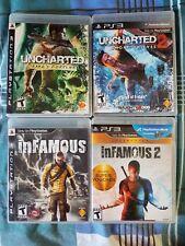 Uncharted 1 & 2 + Infamous 1 & 2