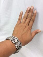 Pretty  Carolyn Pollack sterling 925 southwestern Ornate Wide Links bracelet