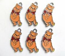 Winnie the Pooh Charms Enamel Pendant Craft Necklace Bracelet Earrings