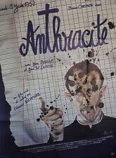 """ANTHRACITE"" Affiche originale (Edouard NIERMANS / Bruno CREMER)"