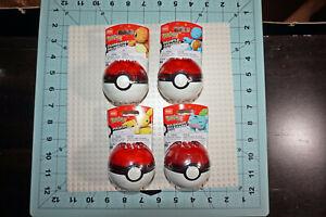 Mega Construx Pokemon Pokeball PIKACHU, SQUIRTLE, BULBASAUR, CHARMANDER LOT OF 4