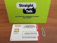 Straight Talk Verizon Nano SIM Card for Bring Your Own Phone BYOP W LTE 4G
