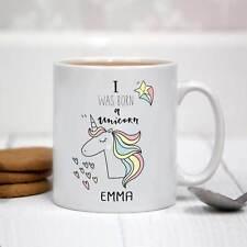 Personalised White Ceramic Mug - I Was Born a Unicorn