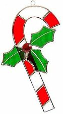Christmas Candy Cane Stained Glass Suncatcher