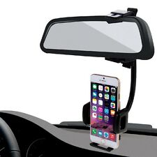 HAWEEL New 2 in 1 Universal Car Rear View Mirror Stand Mobile Phone Mount Holder