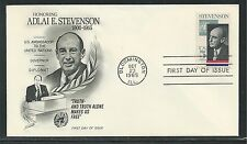 # 1275 ADLAI STEVENSON, GOVERNOR & AMBASSADOR 1965 Fleetwood First Day Cover