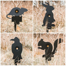 NEW Large Black Animal Self Reset Shooting Targets Silhouettes Rabbit Bird Rat