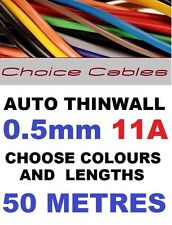 50m AUTOMOTIVE CABLE KIT 0.5MM 11 AMP VEHICLE CAR WIRE THINWALL AUTO CABLE 11A
