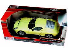 Motormax 73367 Lamborghini Miura Concept 1/24 Diecast Yellow
