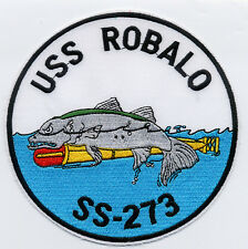 USS Robalo SS 273 - Fish on Torpedo BC Patch Cat No B970