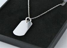 MENS 925 STERLING SILVER DOG TAG NECKLACE WITH FREE PERSONALISED ENGRAVING