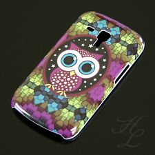 Samsung Galaxy S Duos s7562 HARD CASE GUSCIO PROTETTIVO ASTUCCIO motivo grande gufo owl