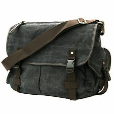 Casual Vintage Canvas Cross Body Messenger Bookbag Shoulder Bag School Men Women