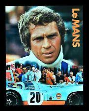 LE MANS * LEMANS MOVIE POSTER STEVE MCQUEEN AUTO RACING PORSCHE F1 CAR GARAGE