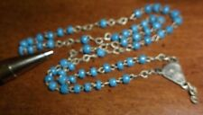 ANTIQUE TINY GLASS BEADS RELIGIOUS ROSARY BEADS  as is Estate