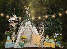 Easter Camp Baby Dream Backdrop 6x8 Ft Fleece