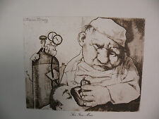 "Art print Charles Bragg black Lithograph gp ""THE GAS MAN"" Duotone Signed"