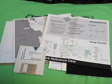 MICROSOFT FLIGHT SIMULATOR 4.0 - 3.5 Disks & Maps & Quick Reference Card - MSDOS