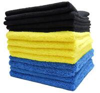 Color-Coded Microfiber Bulk Detailing Towels - 12 Pack MF-416-12