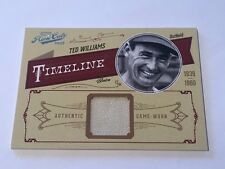 Ted Williams 2012 Panini Playoff Prime Cuts Timeline Jersey #78/99 Red Sox HOF
