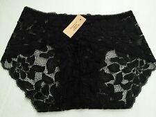 DressNStyle NWT VICTORIA'S SECRET Sexy Lace Lacey Black Panty Underwear L-XL