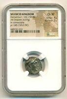 Seleucid Kingdom Demetrius I 162-150 BC Silver Drachm Ch XF NGC