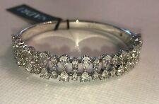 $365!! Fabulous Nadri 18K White Gold Swarovski crystal Sparkle  Bangle Bracelet