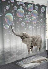 SHOWER CURTAIN Elephant Blowing Bubbles