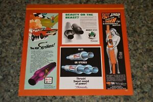 ★1969-72 MUFFLER ADS PICTURE FEATURE PRINT 70S ARVIN MERIT DRAGON THRUSH TIGER