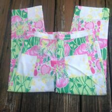 Vintage Lilly Pulitzer Patch Floral Pants 4 White Label Tag Pink Green Patchwork