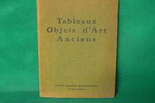 Catalogue de vente aux enchères 1960 GALERIE CHARPENTIER tableaux anciens