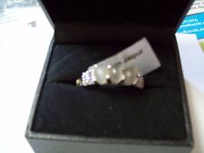 GREY MOONSTONE & BLUE TANZANITE IN 925 STERLING SILVER RING SIZE 9 B.N.W.T.