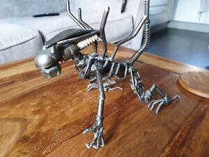 Scrap Metal Art Steel Alien Figurine Sculpture Ornament