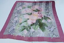 foulard valentino pura seta 100% silk original made in italy handmande fiori