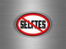 Sticker adesiva adesivi no selfie stick photo camera jdm bomb moto auto r1