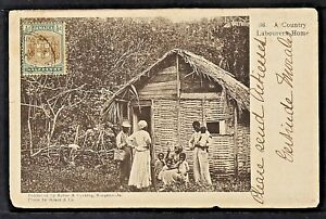 JAMAICA 02-KINGSTON - A Country Labourers Home  (Sent to Cvba in 1905)