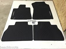 2007-2011 TUNDRA CREW MAX & DOUBLE CAB ALL WEATHER FLOOR MATS GENUINE TOYOTA