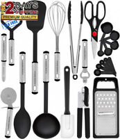 Premium Set 23 Best Kitchen Utensils Gadgets with Spatula - Best Kitchen GIFT