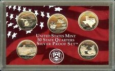 "2004-S   STATE QUARTERS COMMEMORATIVE ""S-PROOF""  90% SILVER Set, US Mint Case"