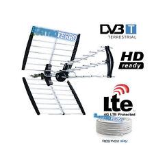 ANTENNA PER DIGITALE TERRESTRE SATELITARE + CAVO TV SAT COASSIALE  6,6 mm 100 MT