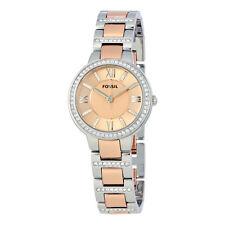 Fossil Virginia Rose Dial Teo-tone Ladies Watch ES3405-AU
