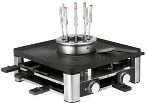 WMF Lumero 3in1 Raclette Grill, 1.960 Watt, antihaftbeschichtete Grillplatte