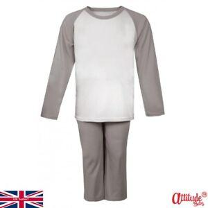 Baby Pyjamas-Grey/White Pyjamas-Kids Pyjamas-Baby And Children's Raglan Pyjamas