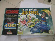 SUPER NINTENDO PAL ITA GIG  SNES MARIO ALL STARS ESP ESPANA CIB BOX COMPLETE