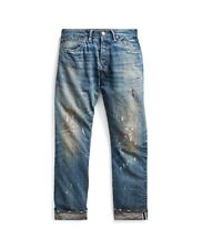 RRL bergen WASH LOW STRAIGHT SLIM japan woven SELVAGE DENIM JEANS colored